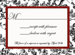 Wedding Rsvp Wording Examples Wedding Invitation Reply Card Wording Sample The Wedding