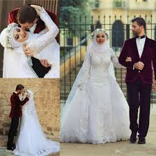islamic wedding dresses discount muslim wedding dresses 2015 new fashion high neck