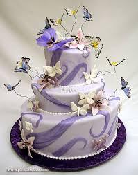 Carmageddon Wedding Ideas Purple Butterfly Wedding Cakes