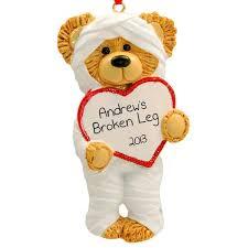 broken arm broken leg ornament surgery ornaments