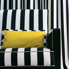 Black And White Striped Upholstery Fabric Upholstery Fabric For Curtains Striped Cotton Riva Sole
