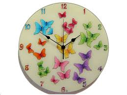 silent wall clocks butterfly wall clock large silent wall clock colorful wall clock