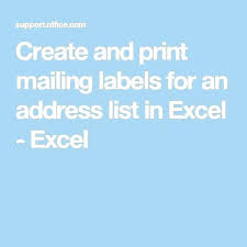 printing address labels on excel print address labels from excel print mailing labels from excel