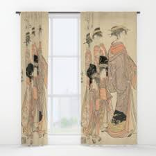 Asian Curtains Asian And Japanese Window Curtains Society6