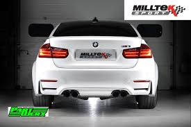 Bmw M3 Back - bmw m3 f80 milltek sport cat back exhaust system 4x polished gt90