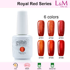 royal red series ido gelish royal red series soak off gel nail polish