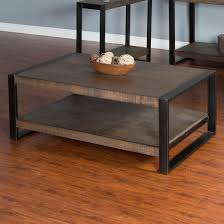 Sunny Design Furniture Distressed Pine Coffee Table With Industrial Metal Frame By Sunny