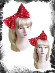 big hair bows big hair bow polka dots hair band and white rockabilly