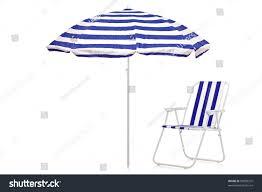 Clip On Umbrellas For Beach Chairs View Blue White Striped Umbrella Beach Stock Photo 59020372