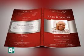 modern funeral programs crimson dignity funeral program large publisher template dignity