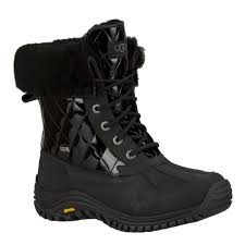 ugg womens quilted boots ugg s adirondack ii quilted boots black 1012212 blk