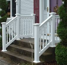 vinyl step railing kits unique shaped decoration fence