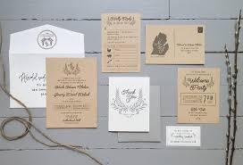 wedding invitation suite rustic neutral suite gray paper co custom stationery