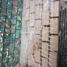 shell tile backsplash green abalone shell mosaic tile on mesh with ceramic tile base