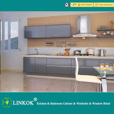 2017 linkok furniture modern black lacquer kitchen cabinets and