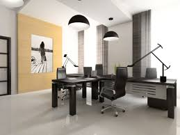 Simple Office Design Ideas Interior Of The Cabinet In Office 3d Rendering Pictures Photos