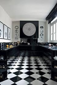 carrelage noir et blanc cuisine cuisine carrelage damier noir et blanc mobilier décoration
