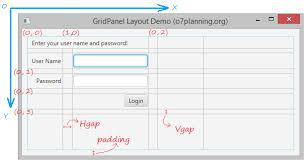 javafx grid layout exle javafx gridpane layout tutorial