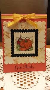 thanksgiving card way to use a leaf embossing folder on