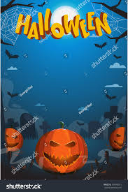 halloween vector illustration pumpkin jack flashlight stock vector