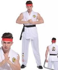 karate kid costume mens fighter costume karate kid ryu fancy dress