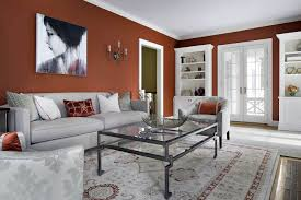 gray living room red color carameloffers