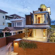 Foyer Home Design Modern Clever Semi Detached House With Elongated Volumes In Singapore
