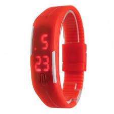 bracelet watches led images Candy color men 39 s or women 39 s watch rubber led watch date bracelet jpg