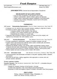 Sample Resumes For Customer Service by Best Sample Resumes For Customer Service Representative Opulent