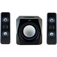 wireless speaker home theater ilive ihb23b 2 1 channel wireless three speaker system