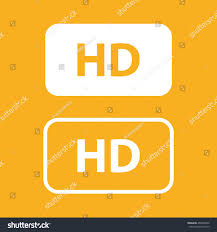 hd sign vector icon yellow background stock vector 452069560