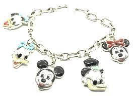 handmade silver charm bracelet images Zuni handmade sterling silver inlay mickey mouse disney charm jpg