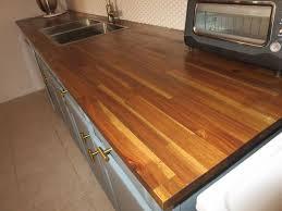 comptoir cuisine bois revêtements de comptoir home depot canada