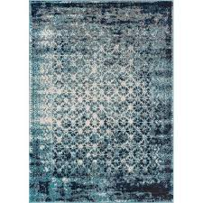 Royal Palace Handmade Rugs Bungalow Rose Allentow Modern Distressed Royal Blue Area Rug