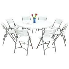 White Folding Table And Chairs Round Foldable Tables U2013 Anikkhan Me