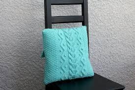 knit pillow case pattern knitting pattern home decor diy
