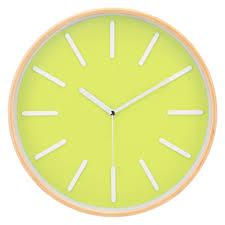pop of color u2013 silent wall clock green decomates