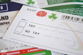 themed wedding invitations ireland vs rugby ticket wedding invitations wedfest