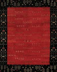 Red Tribal Rug Rugsville Gabbeh Tribal Red Black Wool Rug 13206 Rugsville Co Uk