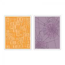 msp halloween background sizzix texture fades embossing folders 2pk halloween words