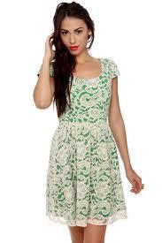 lovely lace dress cream dress green dress 47 00