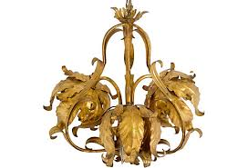 Gold Leaf Chandelier Italian Gold Leaf Chandelier Janney U0027s Collection