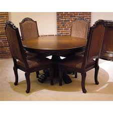 old world 5pc round pedestal table u0026 chair set rotmans dining