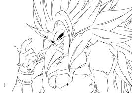 coloriage sangoku super sayen 5 ancenscp