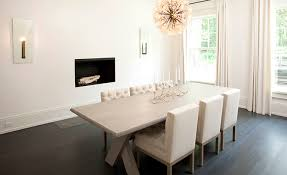 contemporary dining room with x based dining table contemporary