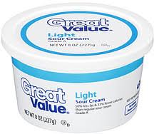 light sour cream nutrition great value sour cream light 8 0 oz nutrition information shopwell