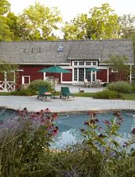 farmhouse chic a barn turned pool house new jersey monthly