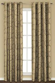 Drapes With Grommets Sinclair Embroidery Grommet Curtain U2013 Chocolate U2013 United Curtain