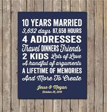 ten year anniversary ideas 10 years wedding anniversary gift wedding gifts