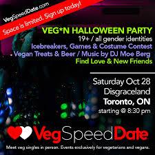 veg singles mixer halloween party toronto vegetarian association